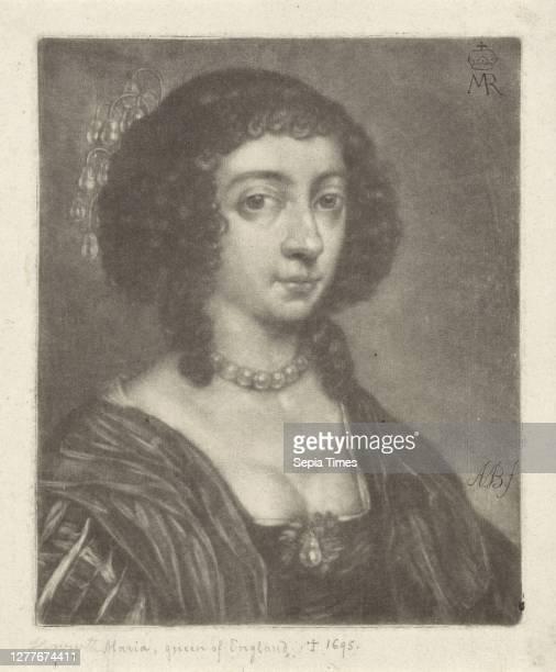 Portrait of Henrietta Maria of Bourbon, Queen of England, Wife of Charles I, King of England. Henrietta Maria de Bourbon , Abraham Bloteling ,...