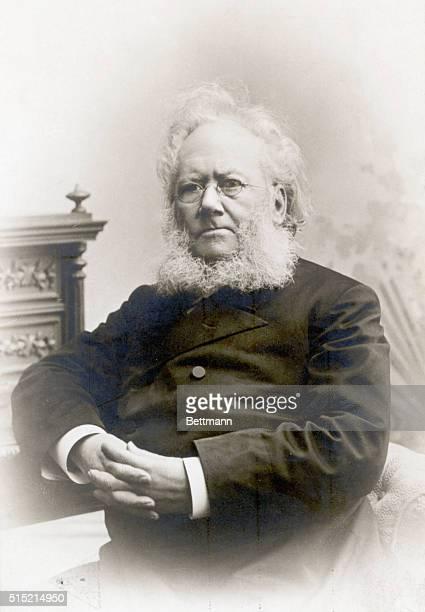 Portrait of Henrik Ibsen Norwegian poet and dramatist. Undated photograph.