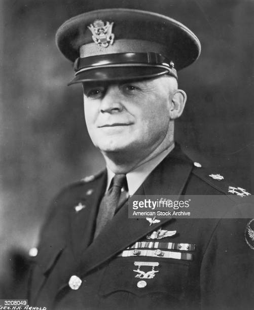Portrait of Henry 'Hap' Arnold, the first general of the United States Air Force, wearing his uniform, circa 1945.
