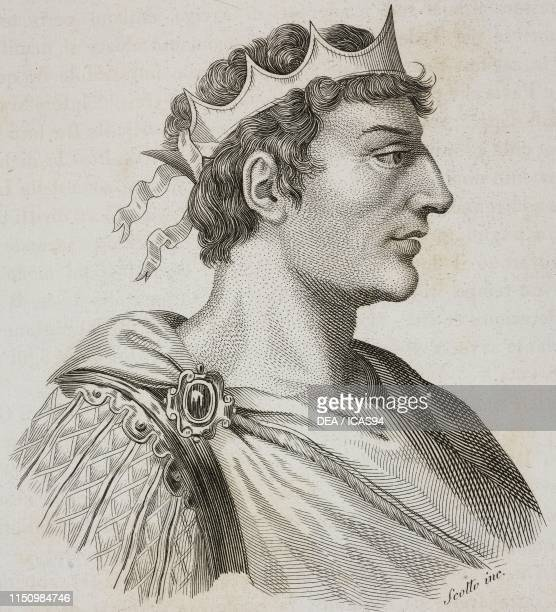 Portrait of Henry II , King of Italy and Holy Roman Emperor, engraving by G Scotto, from Storia dei dominii stranieri in Italia dalla caduta...