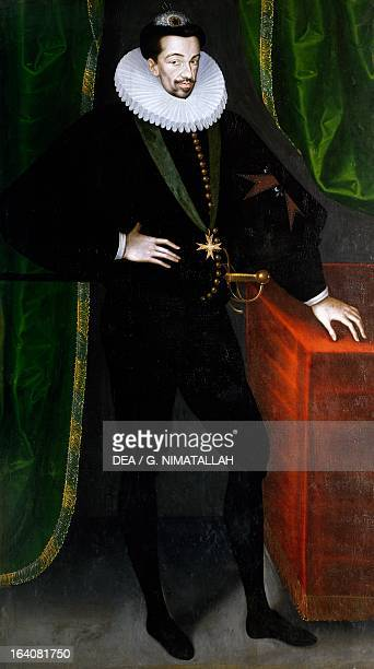Portrait of Henry III of Valois ca 1585 King of Poland Painting by anonimous from a painting by Francois Quesnel Vienna Kunsthistorisches Museum