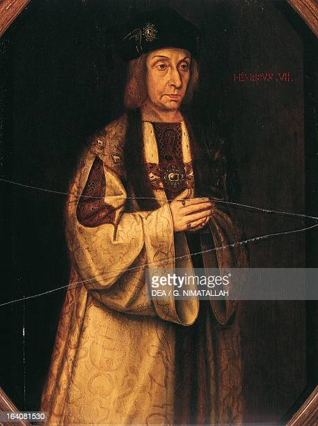 Portrait of Henry VII Tudor King of England Oil on panel London Victoria And Albert Museum