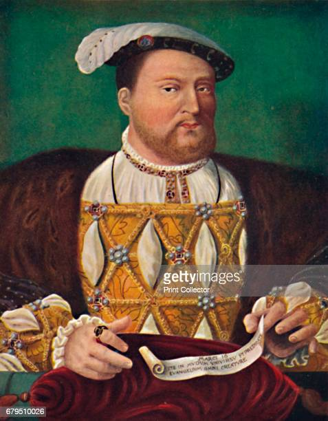 Portrait of Henry VIII ' c1530 From the Royal Collection Windsor Castle From Social England Volume III edited by HD Traill DCL and J S Mann MA...