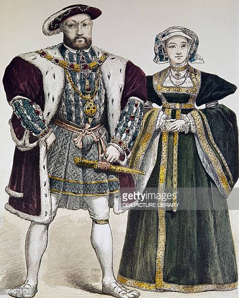 Portrait of Henry VIII of England and the Queen consort Anne of Cleves