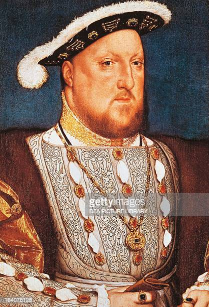 Portrait of Henry VIII Tudor King of England and Lord of Ireland Painting by Hans Holbein the Younger