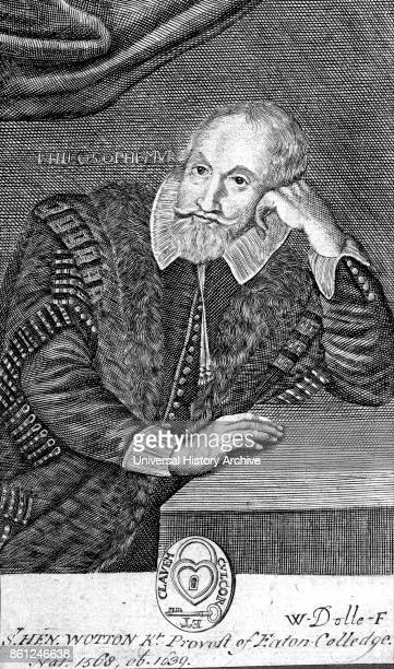 Portrait of Henry Wotton an English author diplomat and politician Dated 17th Century