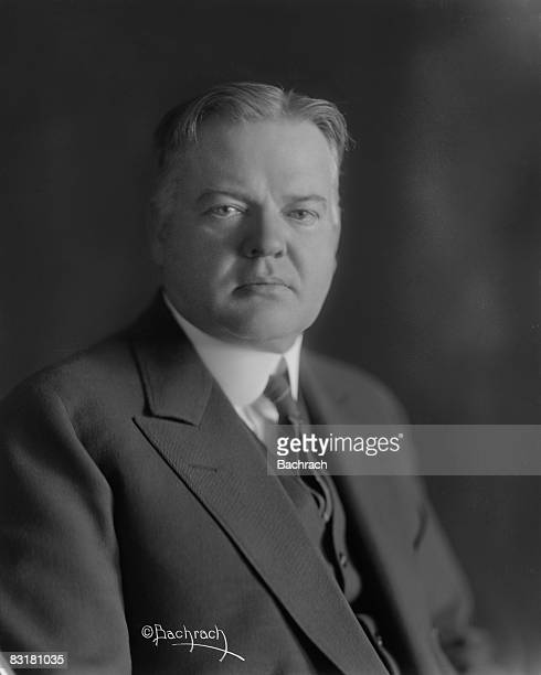 Portrait of Herbert Hoover the 31st president of the United States while he served as Secretary of Commerce under the Coolidge adminsitration...