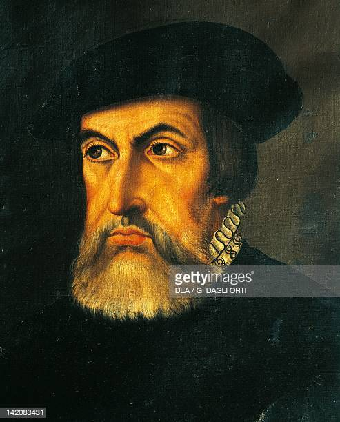 Portrait of Hernan Cortes Spanish conqueror