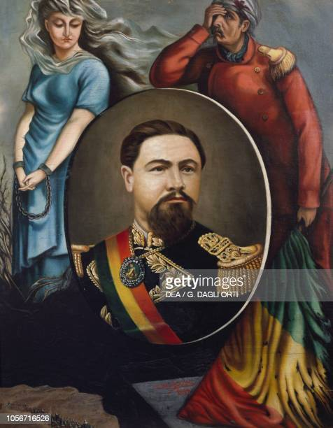 Portrait of Hilarion Daza Groselle Bolivian general and politician