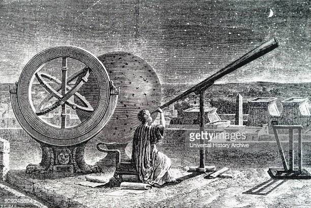 Portrait of Hipparchus a Greek astronomer geographer and mathematician Dated 18th Century