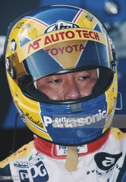 Portrait of Hiro Matsushita of Japan driver of the ArcieroWells Racing Reynard 97i Toyota during practice for the Championship Auto Racing Teams 1997...