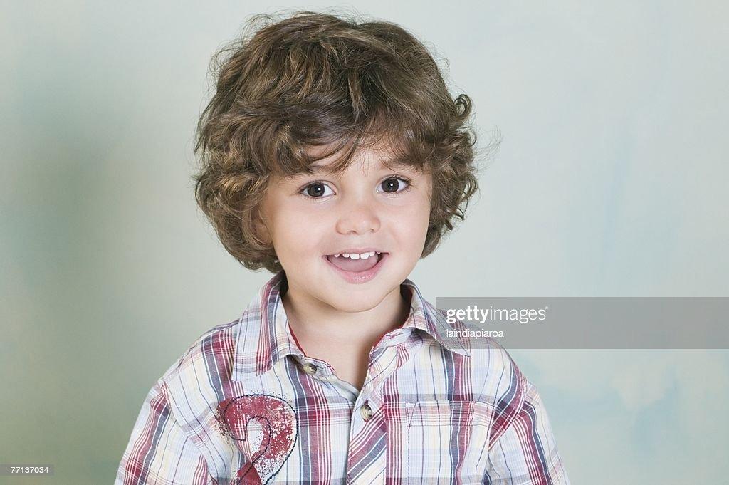 Portrait of Hispanic boy : Stock Photo