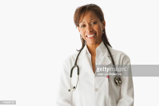 Portrait of Hispanic female doctor