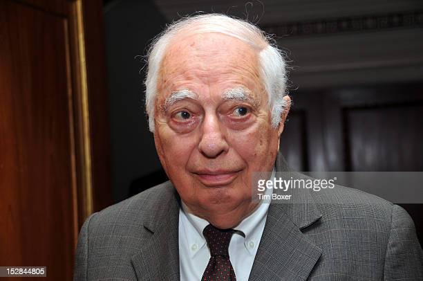Portrait of historian Bernard Lewis 96 years old professor emeritus of Middle East studies at Princeton who was the guest of honor at the American...