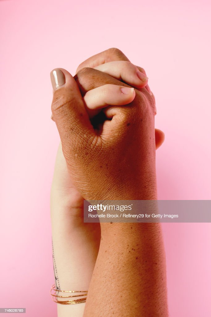Portrait of Holding Hands : Stock Photo