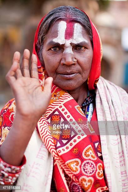 Portrait of Holy Sadhu woman