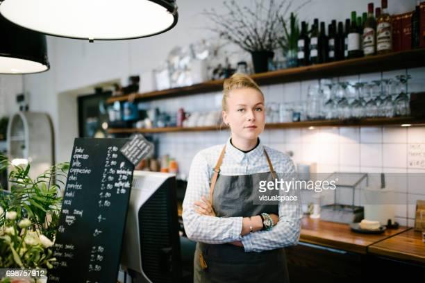 Portret van Home bakkerij meisje