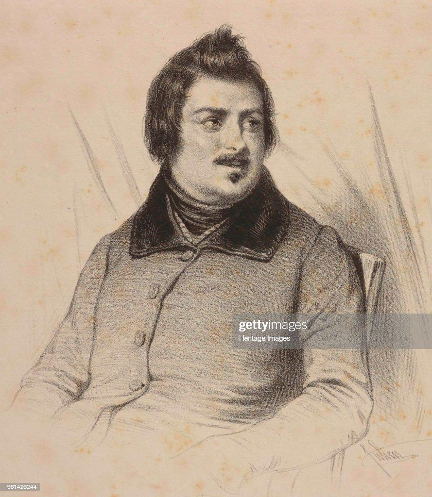 Portrait Of Honoré De Balzac C 1840 Private Collection