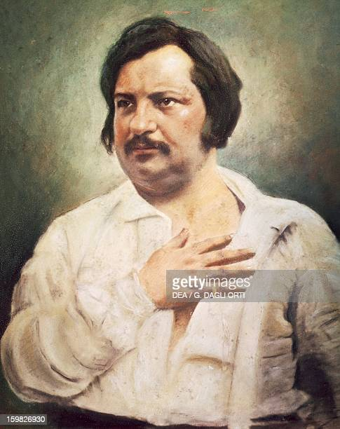 Portrait of Honore de Balzac , French writer. Painting from a 1842 daguerreotype. Paris, Maison De Balzac