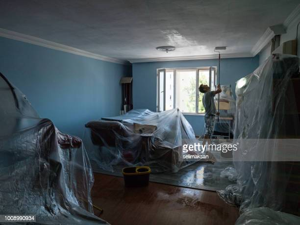 Portrait Of House Painter Working Indoor