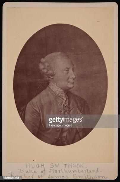 Portrait of Hugh Percy , 1st Duke of Northumberland , 1771 . Father of James Smithson.;Mezzotint by John Finlayson, after Hugh Douglas Hamilton,...