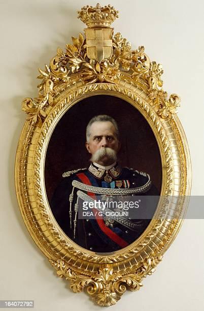 Portrait of Humbert I of Savoy King of Italy painting by Edoardo Gelli 1891 Sarre Castello Di Sarre