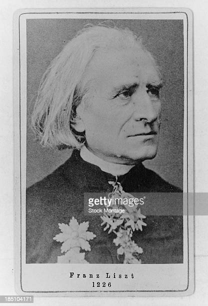 Portrait of Hungarian composer Franz Liszt early to mid 1880s