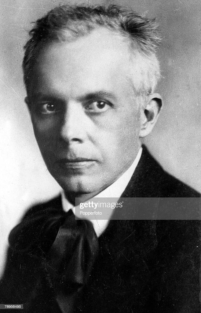 Portrait of Hungarian pianist and collector of folk songs Bela Bartok 1881-1945. : News Photo
