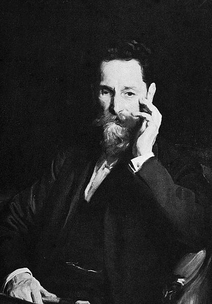 Portrait of Hungarian-born journalist Joseph Pulitzer...