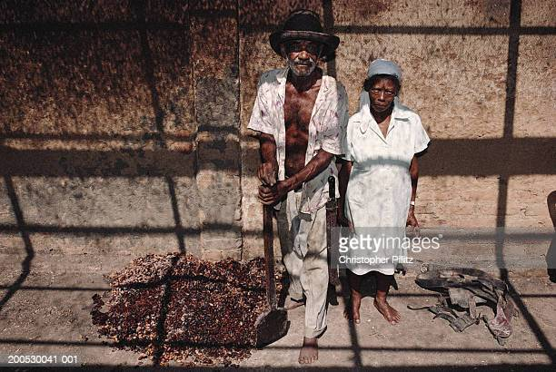 Portrait of husband and wife who have spent their entire lives working on Cocoa plantations, Bahia, Brazil