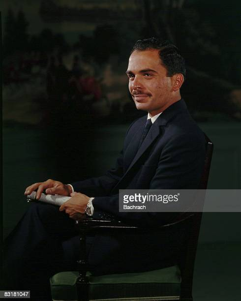 Portrait of Hussein bin Talal ruled as King of Jordan from 1952 to his death in 1999, New York, 1962.