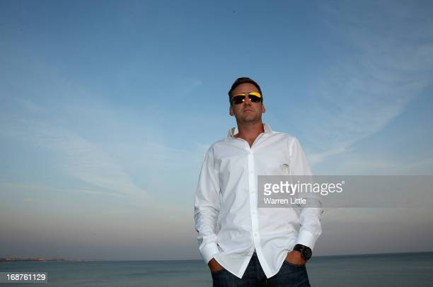 Portrait of Ian Poulter of England ahead of the Volvo World Match Play Championship at Thracian Cliffs Golf & Beach Resort on May 14, 2013 in...