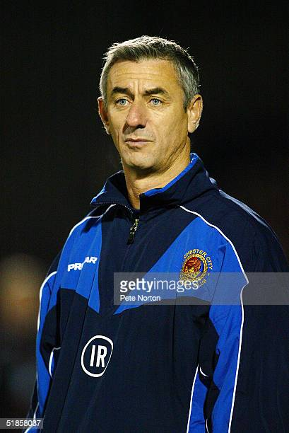A portrait of Ian Rush manager of Chester City during the Coca Cola League Two match between Northampton Town and Chester City held at Sixfields...