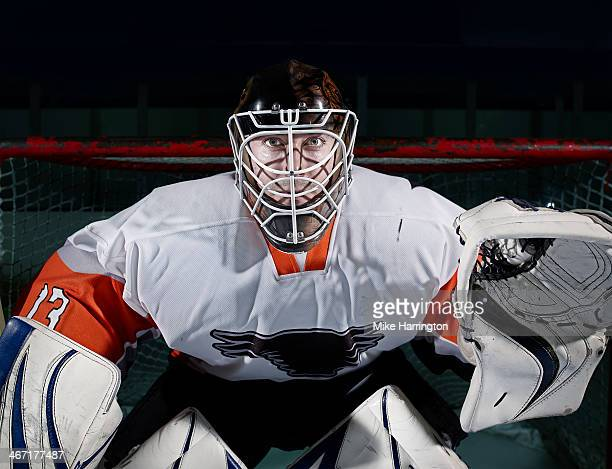 portrait of ice hockey goaltender - ice hockey player stock pictures, royalty-free photos & images