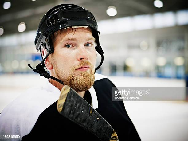 Portrait of ice hockey player