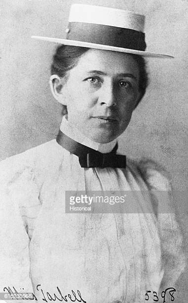 Portrait of Ida Minerva Tarbell author of biographies and social commentary