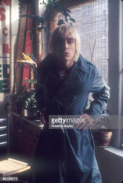Portrait of Iggy Pop in Arturo Vega's apartment in the East Village, New York, 1976.