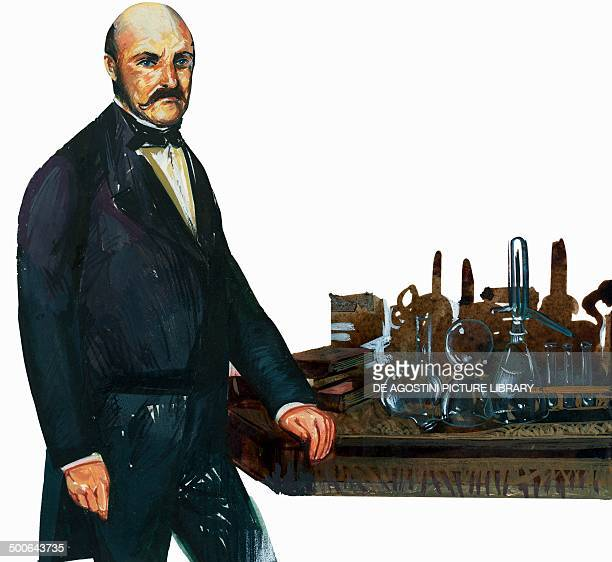 Portrait of Ignac Fulop Semmelweis , Hungarian physician, illustration.