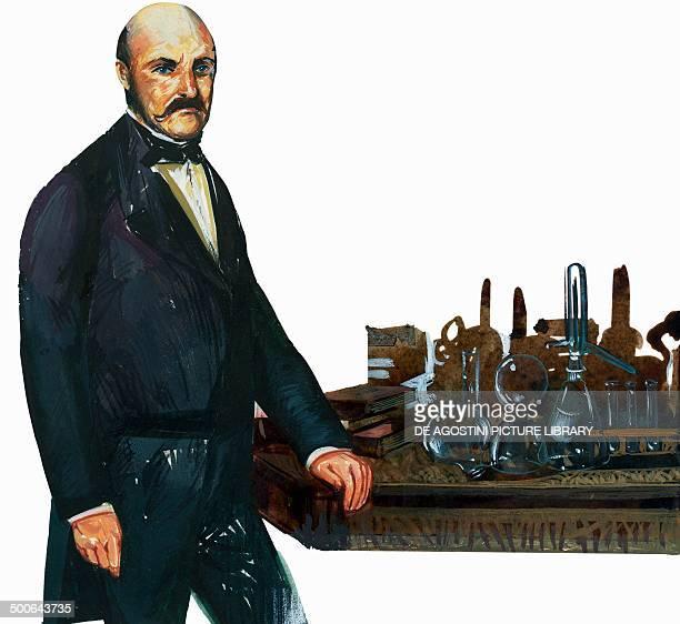 Portrait of Ignac Fulop Semmelweis Hungarian physician illustration