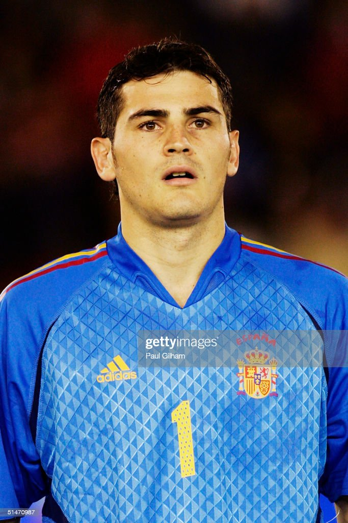 A portrait of Iker Casillas of Spain prior to the group seven 2006 World Cup qualifying match between Spain and Belgium at El Sardinero Stadium on October 9, 2004 in Santander, Spain.