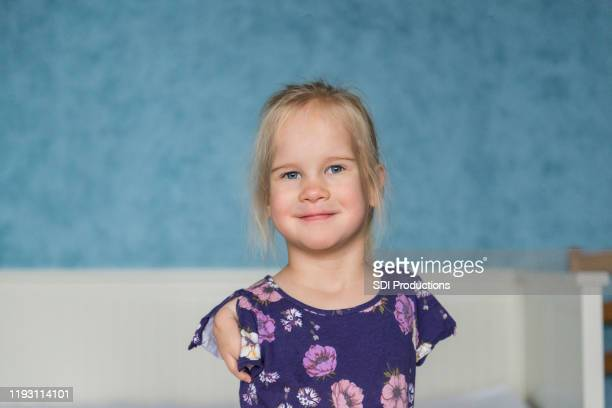 portrait of independent disable girl - small faces stock pictures, royalty-free photos & images