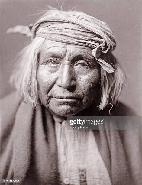 Portrait of indian Apache 'De Gazza' Ca 1906