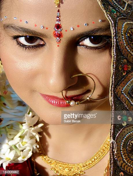 Portrait of Indian bride