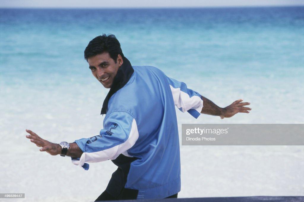 2004, Portrait of Indian film actor Akshay Kumar.