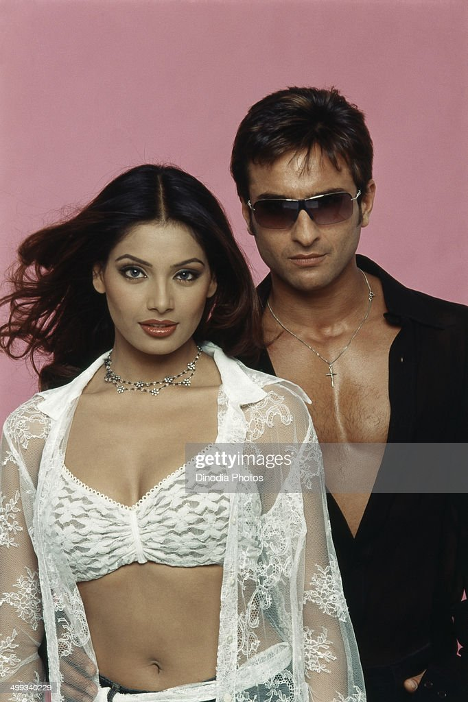 2000 Portrait of Indian film actor Saif Ali Khan and actress Bipasha Basu