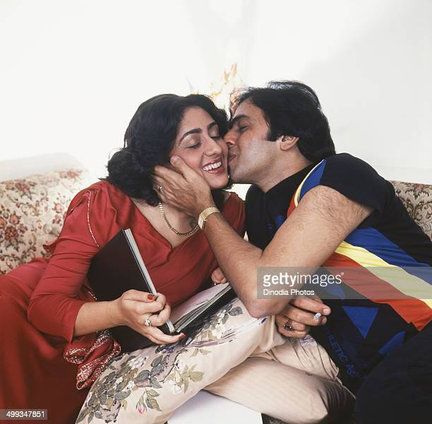1980 Portrait of Indian film actor Vinod Mehra And Actress Bindiya Goswami