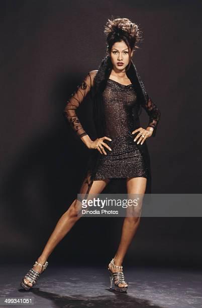 2001 Portrait of Indian film actress and model Nethra Raghuraman