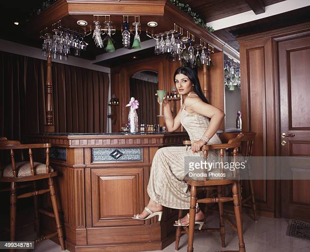 2004 Portrait of Indian film actress Raveena Tandon