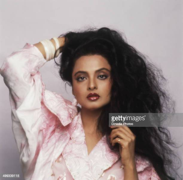 1985 Portrait of Indian film actress Rekha