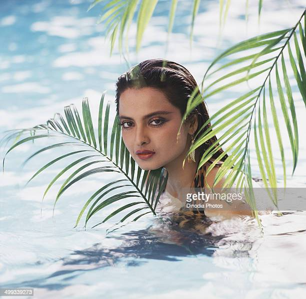1982 Portrait of Indian film actress Rekha